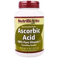 Аскорбиновая кислота, 100% чистый витамин C, кристаллический порошок, 8 унций (227 г) - фото