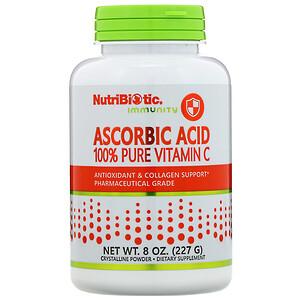 Нутрибиотик, Immunity, Ascorbic Acid, 100% Pure Vitamin C, Crystalline Powder, 8 oz (227 g) отзывы покупателей