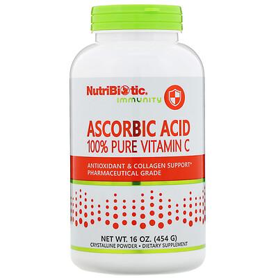 NutriBiotic Immunity, аскорбиновая кислота, 100% чистый витаминC, 454г (16 унций)