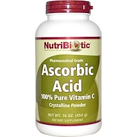 Ascorbic Acid, 100% Pure Vitamin C, Crystalline Powder, 16 oz (454 g) - фото