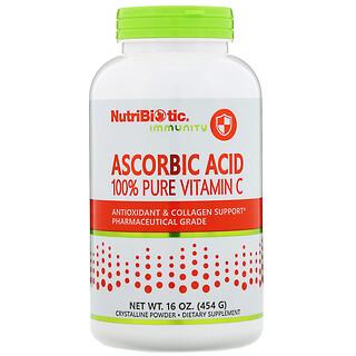 NutriBiotic, Immunité, Acide ascorbique, VitamineC 100% pure, 454g