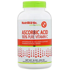 Нутрибиотик, Immunity, Ascorbic Acid, 100% Pure Vitamin C, 16 oz (454 g) отзывы покупателей