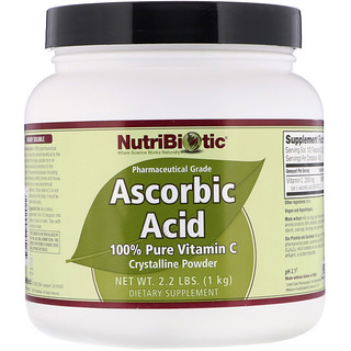 NutriBiotic, Ascorbic Acid, 100% Pure Vitamin C, Crystalline Powder, 2.2 lbs (1 kg)