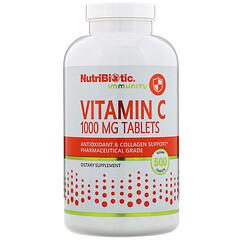 NutriBiotic, 機體抵抗,維生素 C,1,000 毫克,500 片素食片
