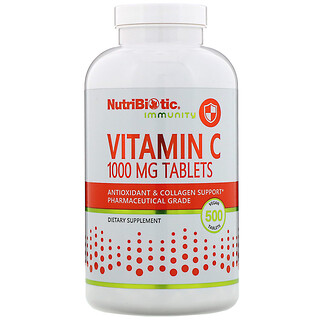 NutriBiotic, Immunity, Vitamin C, 1,000 mg, 500 Vegan Tablets