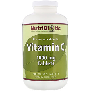 NutriBiotic, Vitamin C, 1000 mg, 500 Vegan Tablets