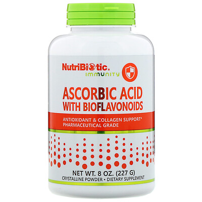 Immunity, Ascorbic Acid with Bioflavonoids, Crystalline Powder, 8 oz (227 g)