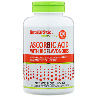 NutriBiotic, Immunity, аскорбиновая кислота с биофлавоноидами, кристаллический порошок, 227г (8унций)