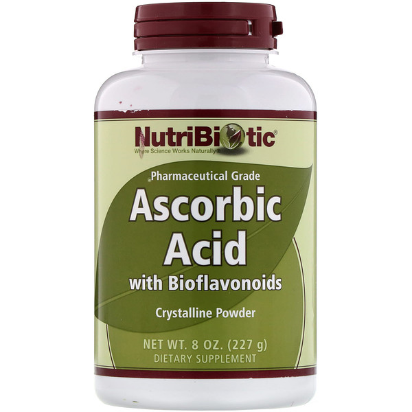 NutriBiotic, Immunity, Ascorbic Acid with Bioflavonoids, Crystalline Powder, 8 oz (227 g)