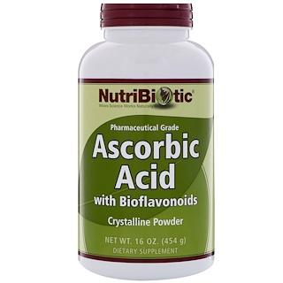 NutriBiotic, バイオフラボノイド配合アスコルビン酸、結晶性粉末、16 oz (454 g)