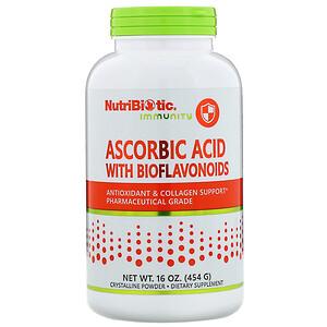 Нутрибиотик, Immunity, Ascorbic Acid with Bioflavonoids, Crystalline Powder, 16 oz (454 g) отзывы покупателей