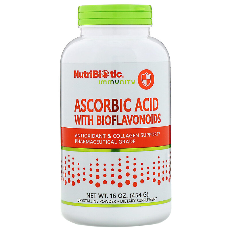 Immunity, Ascorbic Acid with Bioflavonoids, Crystalline Powder, 16 oz (454 g)