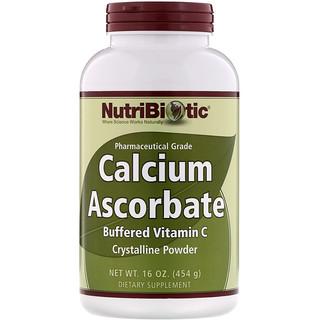 NutriBiotic, 아스코르브산칼슘, 결정성 분말, 16 oz (454 g)