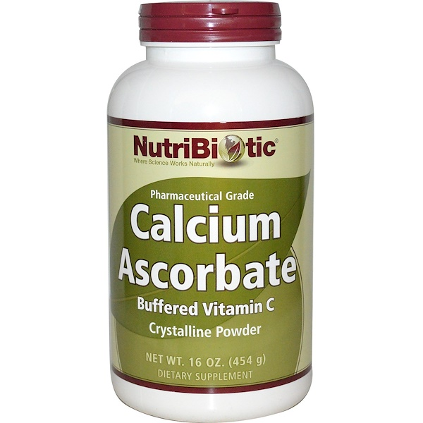 NutriBiotic, Calcium Ascorbate, Crystalline Powder, 16 oz (454 g)
