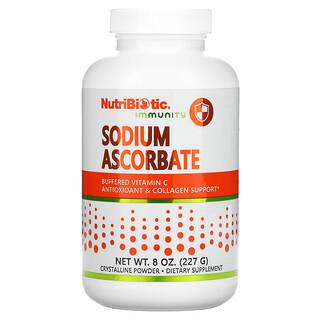 NutriBiotic, 機體抵抗,抗壞血酸鈉,結晶粉,8 盎司(227 克)