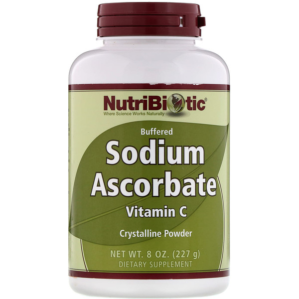 NutriBiotic, Buffered Sodium Ascorbate, Vitamin C, Crystalline Powder, 8 oz (227 g)