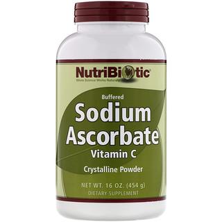 NutriBiotic, 아스코르브산 나트륨, 결정성 분말, 16 oz(454 g)