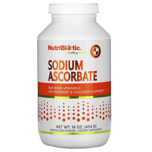 Immunity, Sodium Ascorbate, Crystalline Powder, 16 oz (454 g)