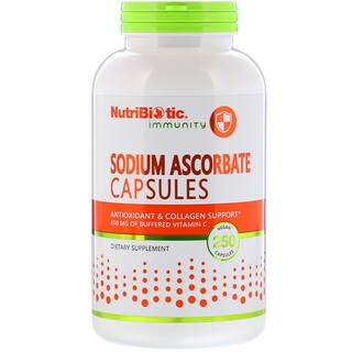 NutriBiotic, 免疫強化抗壞血酸鈉素膠囊,250 粒裝