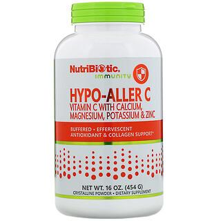 NutriBiotic, Immunity, Hypo-Aller C Vitamin C with Calcium, Magnesium, Potassium & Zinc, 16 oz (454 g)