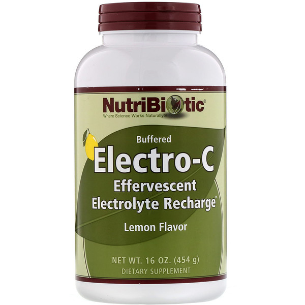 NutriBiotic, Buffered Electro-C, Lemon Flavor, 16 oz (454 g)