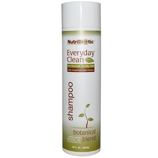 NutriBiotic, Everyday Clean, champú, Botanical Blend, 10 fl oz (296 ml)