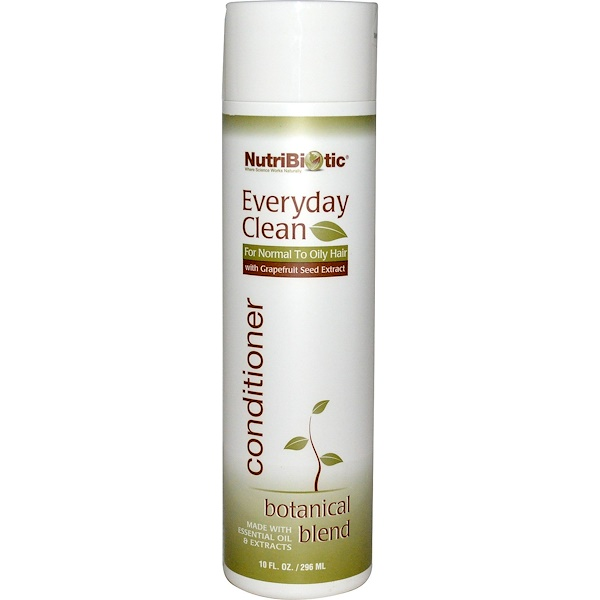 NutriBiotic, エブリディクリーン、コンディショナー、植物ブレンド、10 fl oz (296 ml)