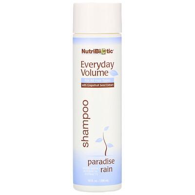 Купить NutriBiotic Everyday Volume Shampoo, Paradise Rain, 10 fl oz (296 ml)