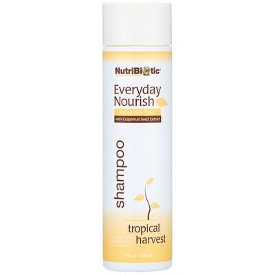 Купить NutriBiotic Everyday Nourish Shampoo, Tropical Harvest, 10 fl oz. (296 ml)