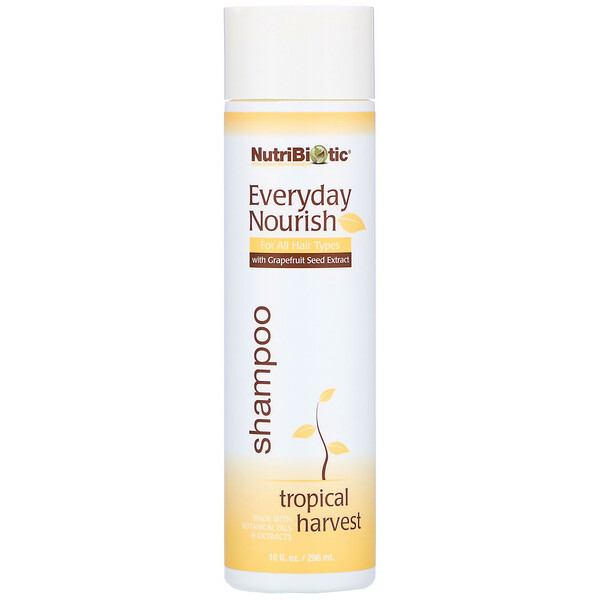NutriBiotic, Everyday Nourish Shampoo, Tropical Harvest, 10 fl oz. (296 ml)