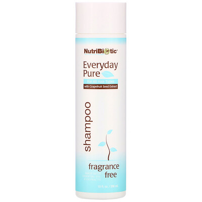 Купить NutriBiotic Everyday Pure Shampoo, Fragrance Free, 10 fl oz (296 ml)