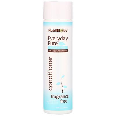 NutriBiotic Everyday Pure Conditioner, Fragrance Free, 10 fl oz (296 ml)  - купить со скидкой
