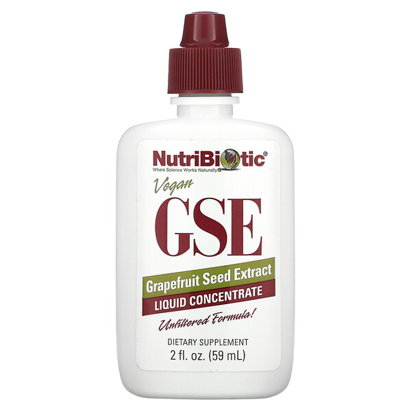 Vegan GSE Grapefruit Seed Extract, Liquid Concentrate, 2 fl oz (59 ml)