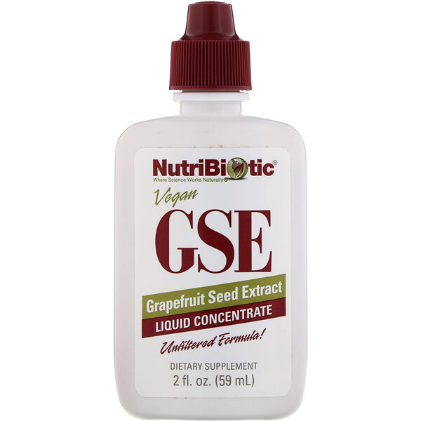 NutriBiotic, GSE, Grapefruit Seed Extract, Liquid Concentrate, 2 fl oz (59 ml)
