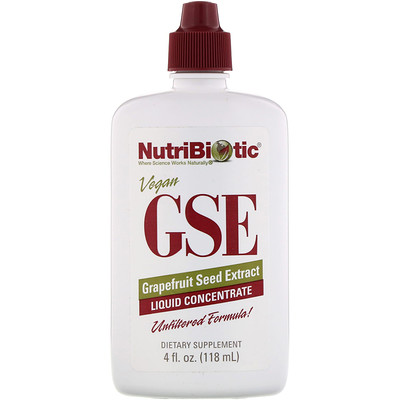 Vegan GSE Grapefruit Seed Extract, Liquid Concentrate, 4 fl oz (118 ml) цена 2017