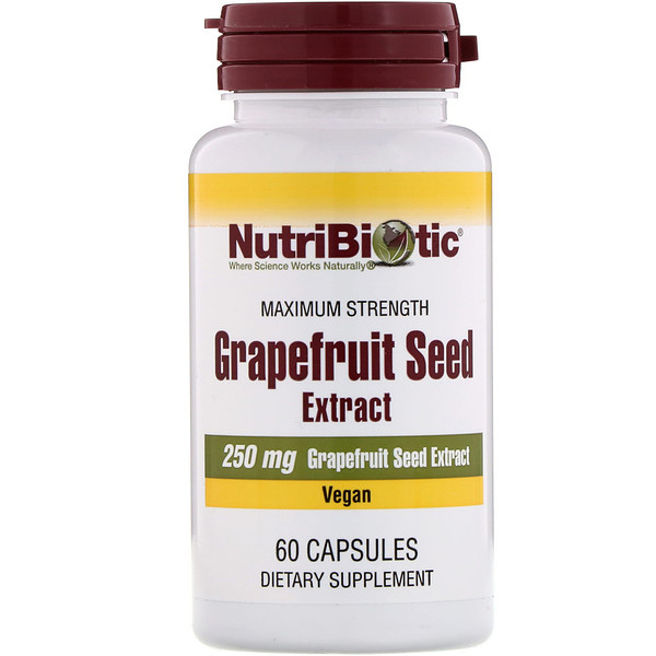 NutriBiotic, Grapefruit Seed Extract, 250 mg , 60 Capsules