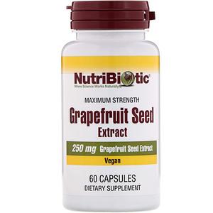 Нутрибиотик, Grapefruit Seed Extract, 250 mg , 60 Capsules отзывы покупателей