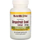 NutriBiotic, 含有紫雛菊和青蒿素的葡萄柚籽萃取精華膠囊,90粒