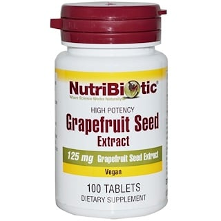 NutriBiotic, Semillas de Pomelo, Extracto, 125 mg, 100 Tabletas