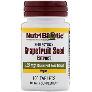 Нутрибиотик, Grapefruit Seed Extract, 125 mg, 100 Tablets отзывы