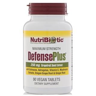 NutriBiotic, DefensePlus، 250 مجم، خلاصة بذور الجريب فروت، 90 قرص نباتي