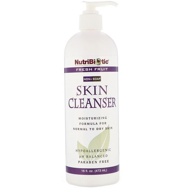 NutriBiotic, Skin Cleanser, Non-Soap, Fresh Fruit, 16 fl oz (473 ml)