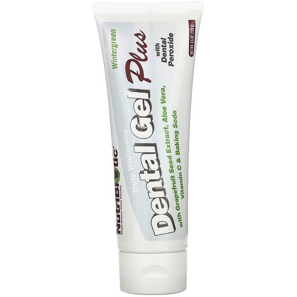 Dental Gel Plus, гель для зубов с отбеливающим эффектом, грушанка, 128 г (4,5 унции)