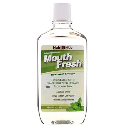 Купить Mouth Fresh, ополаскиватель рта и средство для полоскания горла, освежающая перечная мята, 16 жидк. унц. (473 мл)