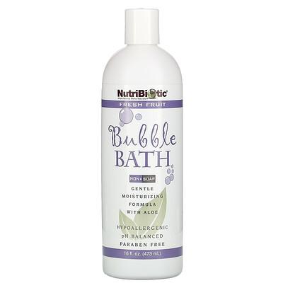 Купить NutriBiotic Пена для ванны, Свежие фрукты, Без мыла, 16 жидких унций (473 мл)