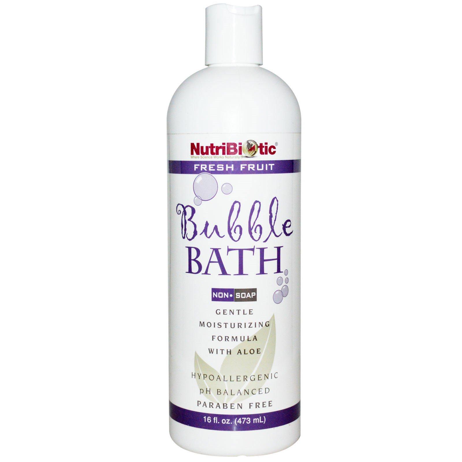 NutriBiotic, Пена для ванны, Свежие фрукты, Без мыла, 16 жидких унций (473 мл)