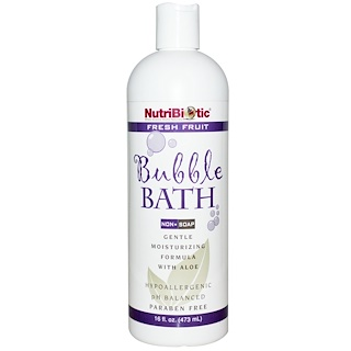 NutriBiotic, Bubble Bath, Non-Soap, Fresh Fruit, 16 fl oz (473 ml)