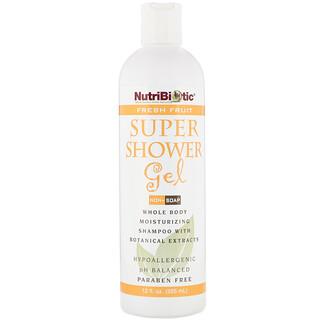 NutriBiotic, 슈퍼 샤워젤, 프레쉬 프루트, Non-Soap, 12 fl oz (355 ml)