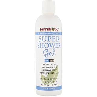 NutriBiotic, 슈퍼 샤워 겔, 향 없음, 비누 아님, 12 액량 온스 (355 ml)