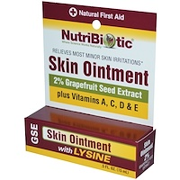Мазь для кожи, 2 % экстракта семян грейпфрута и лизина, 0,5 жидкой унции (15 мл) - фото